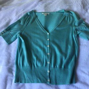 Banana Republic teal color short sleeve sweater